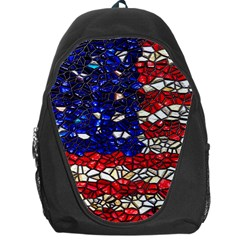 American Flag Mosaic Backpack Bag by bloomingvinedesign