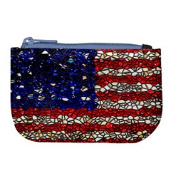 American Flag Mosaic Large Coin Purse by bloomingvinedesign