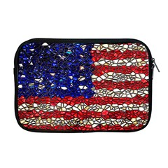 American Flag Mosaic Apple Macbook Pro 17  Zipper Case by bloomingvinedesign