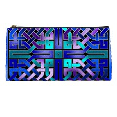 Blue Celtic Knot Square Pencil Cases by bloomingvinedesign