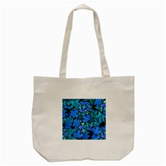 Blue Fall Leaves Tote Bag (cream) by bloomingvinedesign