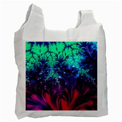 Bluegreen And Pink Fractal Recycle Bag (one Side) by bloomingvinedesign