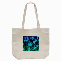 Blue Ocean Bokeh Lights Tote Bag (cream) by bloomingvinedesign