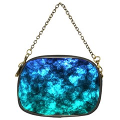 Blue Ocean Bokeh Lights Chain Purse (two Sides) by bloomingvinedesign