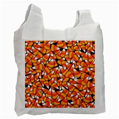 Candy Corn Pattern Recycle Bag (two Side) by bloomingvinedesign