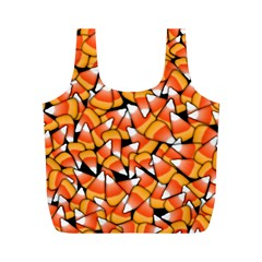 Candy Corn Pattern Full Print Recycle Bag (m) by bloomingvinedesign