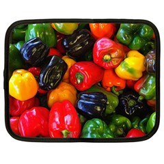 Colorful Bell Peppers Netbook Case (xxl) by bloomingvinedesign