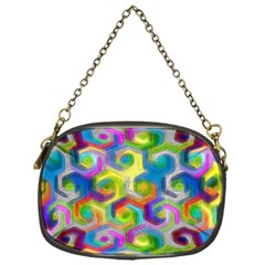 Colorful Hexagons Chain Purse (one Side) by bloomingvinedesign