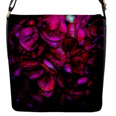 Dark Pink Flower Background Flap Closure Messenger Bag (s)
