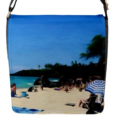 Day At The Beach With Umbrella Flap Closure Messenger Bag (s) by bloomingvinedesign