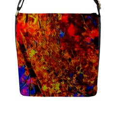 Fall Bokeh Highlights Flap Closure Messenger Bag (l) by bloomingvinedesign
