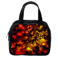 Fall Leaves In Bokeh Lights Classic Handbag (one Side) by bloomingvinedesign