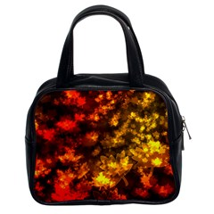 Fall Leaves In Bokeh Lights Classic Handbag (two Sides) by bloomingvinedesign
