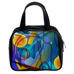 Geometry Collage Classic Handbag (two Sides) by bloomingvinedesign
