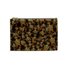 Gingerbread Cookie Collage Cosmetic Bag (medium) by bloomingvinedesign