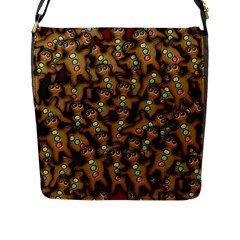 Gingerbread Cookie Collage Flap Closure Messenger Bag (l) by bloomingvinedesign