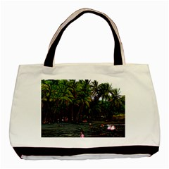 Hawaiian Beach Abstract Basic Tote Bag (two Sides) by bloomingvinedesign
