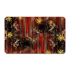 Mary Jane Burgundy Black And Gold Bedsheets  Magnet (rectangular) by flipstylezdes