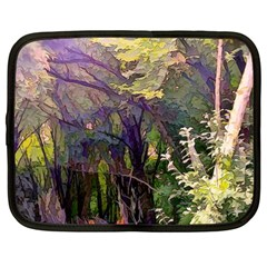 Into Woodlands Netbook Case (xl) by bloomingvinedesign