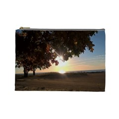 Nine Oclock Sunrise In Fall Cosmetic Bag (large) by bloomingvinedesign
