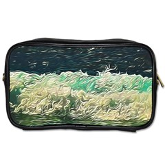 Ocean Wave Close To Shore Toiletries Bag (one Side) by bloomingvinedesign
