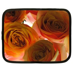 Orange Roses Netbook Case (xl) by bloomingvinedesign