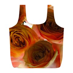 Orange Roses Full Print Recycle Bag (l) by bloomingvinedesign