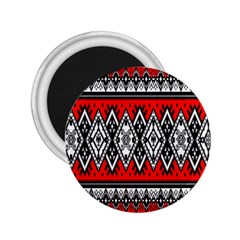 Decoration Pattern Style Retro 2 25  Magnets by Nexatart