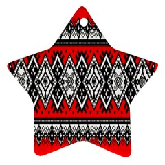 Decoration Pattern Style Retro Star Ornament (two Sides) by Nexatart