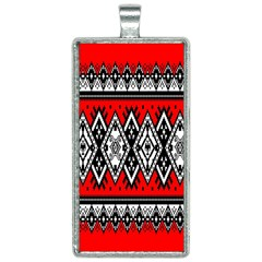Decoration Pattern Style Retro Rectangle Necklace
