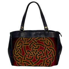 Beautiful Art Pattern Oversize Office Handbag (2 Sides)