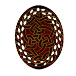Beautiful Art Pattern Ornament (Oval Filigree) Front