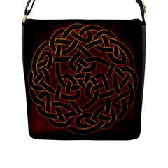 Beautiful Art Pattern Flap Closure Messenger Bag (l)