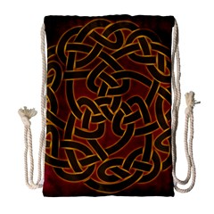Beautiful Art Pattern Drawstring Bag (large)