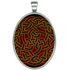 Beautiful Art Pattern Oval Necklace