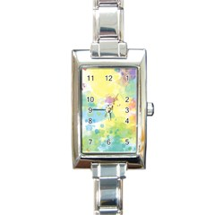 Abstract Pattern Color Art Texture Rectangle Italian Charm Watch