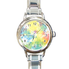 Abstract Pattern Color Art Texture Round Italian Charm Watch