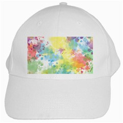 Abstract Pattern Color Art Texture White Cap