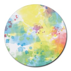 Abstract Pattern Color Art Texture Round Mousepads