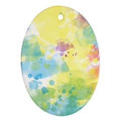 Abstract Pattern Color Art Texture Ornament (oval)