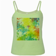 Abstract Pattern Color Art Texture Green Spaghetti Tank