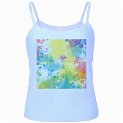 Abstract Pattern Color Art Texture Baby Blue Spaghetti Tank