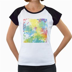 Abstract Pattern Color Art Texture Women s Cap Sleeve T