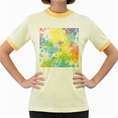 Abstract Pattern Color Art Texture Women s Fitted Ringer T Shirt