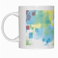 Abstract Pattern Color Art Texture White Mugs