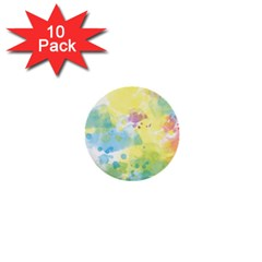 Abstract Pattern Color Art Texture 1  Mini Buttons (10 Pack)