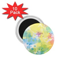 Abstract Pattern Color Art Texture 1 75  Magnets (10 Pack)