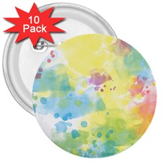 Abstract Pattern Color Art Texture 3  Buttons (10 Pack)