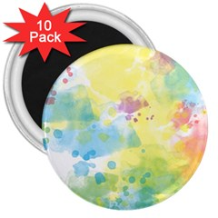 Abstract Pattern Color Art Texture 3  Magnets (10 Pack)