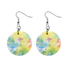Abstract Pattern Color Art Texture Mini Button Earrings